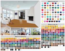 Подбор цвета натяжного потолка