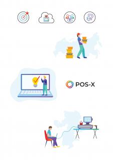 иконки и иллюстрации для сайта Pos-X