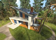 Энергосберегающий домик в лесу