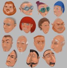 концепты персонажей