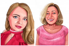 Stylized digital portraits