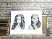 портреты, акварель