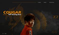 Дизайна для сайта игровой гарнитуры Cougar