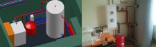 Коттедж. Система отопления и ГВС