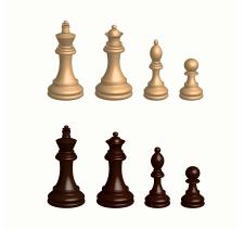 из чертежей сделать 3d шахматы