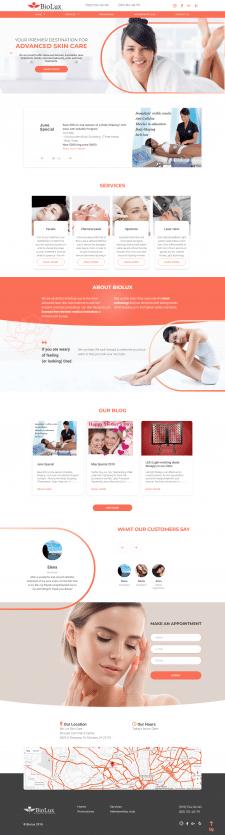 Разработка сайта под ключ BioluxSkinCare
