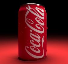 Визуализация банки Coca Cola