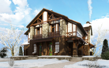 дом 01 зима