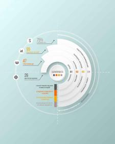 Инфографика для центра оценок компании