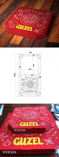 Разработка дизайна коробки для пиццы