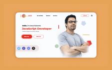 Дизайн на сайт личного портфолио