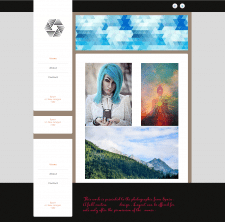 Макет сайта для фотографа.