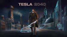 Постер для компьютерной игры Tesla 2040