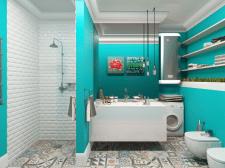 Визуализация интерьера квартиры-студии