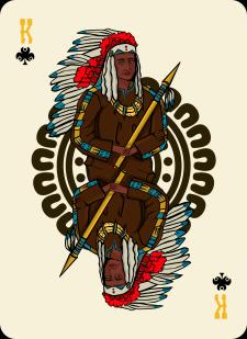 Spielkarten Indians- Farbig11
