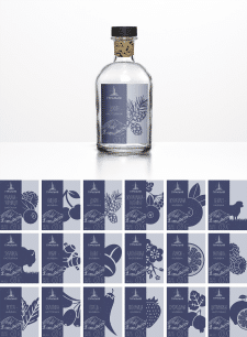 Дизайн сета этикеток для Гуральни