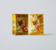 Упаковка мыло Прополис компания Медовея