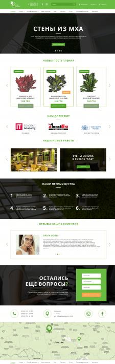 Дизайн для интернет-магазина «Artis Green»