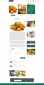 Дизайн кулинарного блога