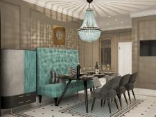 Дизайн проект квартиры 125м2 для семьи г. Москва.