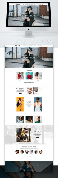 сайт для магазина брендовой одежды