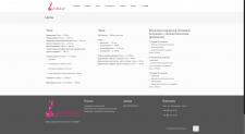Сайт визитка салона аппаратной косметологии EVOQUE