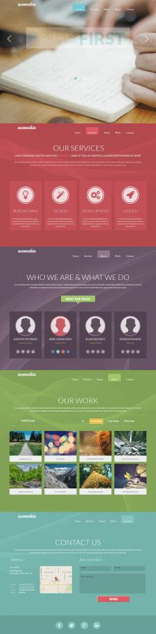 Верстка PSD макета WEB-студии