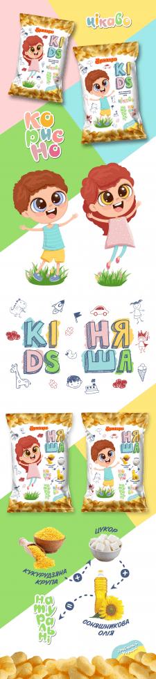 Детская упаковка кукурузных палочек