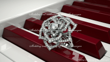 Piaget Rose ring rendering.