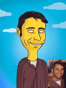Портрет в стиле Симпсон