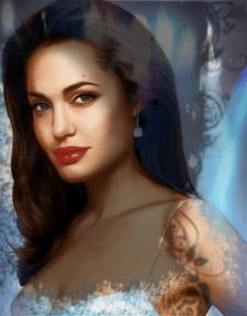 Анжелина Джоли в цвете
