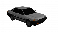 Honda Civic 86 Low-poly style