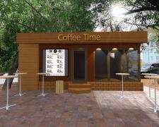 3Д дизайн экстерьера мини-кофейни