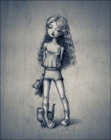 Рисунок карандашом и мелом