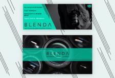 Шапка для Facebook и YouTube канала Blenda