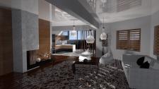Интерьер гостинной-студии