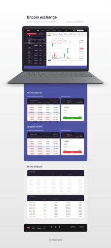 Редизайн биржи обмена криптовалют