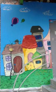 Роспись фасада детского магазина