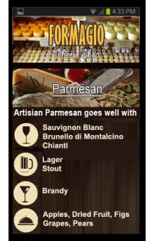 Приложение для магазина сыров Formagio