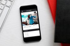 Сайт для дизайнера одежды - Мобильная версия