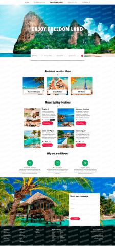 Сайт по макету, тема Путешествия 2