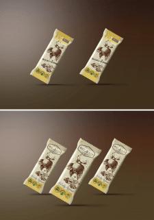 Создание упаковки для фруктово-орехового батончика