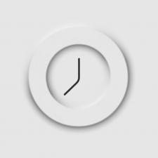 Часы в стиле неоморфизм