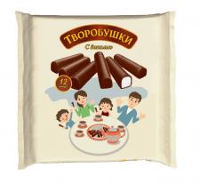 """Иллюстрация для упаковки сырков """"Творобушки"""""""