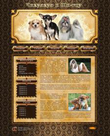 Дизайн сайта по разведению декоративных собак