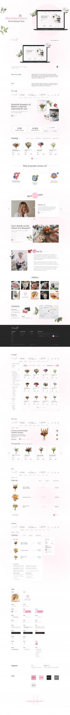 Blooming Flowers – E-commerce website