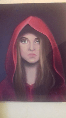 Неизвестная девушка. Масло. 2016г