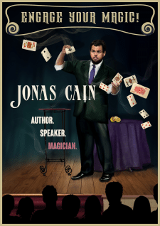 Old Style Magic Poster for Jonas Cain
