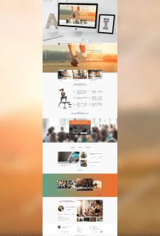 Дизайн сайта для фитнесс-тренера