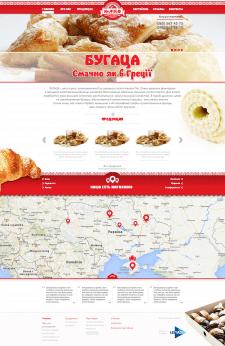 Дизайн сайта для сети выпечки Бугаца